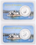 2001 AUSTRALIAN KOOKABURRA 1 OZ COINS - LOT OF 2