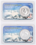 2000 LITTLETON CANADIAN SILVER 1 OZ COINS - LOT OF 2