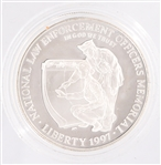 U.S. LAW ENFORCEMENT COMMEMORATIVE PROOF SILVER DOLLAR