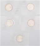 UNC. GEORGE WASHINGTON COMMEMORATIVE HALVES - LOT OF 5