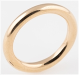"14K YELLOW GOLD PANDORA ""ALE"" COMFORT FIT BAND"