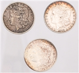 UNITED STATES SILVER MORGAN DOLLARS - LOT OF 3