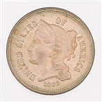 1866 UNITED STATES NICKEL 3 CENT PIECE HIGH GRADE