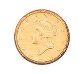 1851 P UNITED STATES GOLD ONE DOLLAR COIN