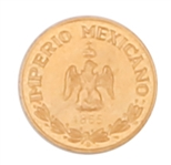 1865 B IMPERIAL MEXICO SMALL GOLD COIN