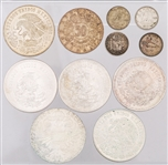 VARIETY OF WORLD SILVER COINAGE - 201.3 GRAMS