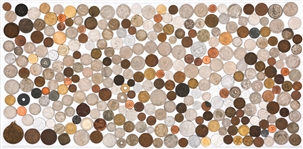 WORLD COPPER & CLAD COINAGE - 6.00LBS