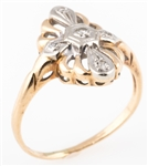 14K YELLOW GOLD ART DECO STYLE RING