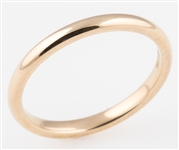 9K YELLOW GOLD COMFORT FIT BAND