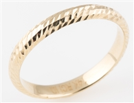 14K YELLOW GOLD PATTERNED BAND