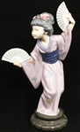 LLADRO PORCELAIN MADAME BUTTERFLY FIGURINE 4991