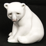 LLADRO PORCELAIN SEATED POLAR BEAR FIGURINE 1209