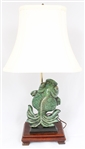 CHINESE CERAMIC FIGURAL GOLDFISH TABLE LAMP