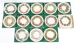 LENOX PORCELAIN COLONIAL CHRISTMAS COLLECTORS PLATES