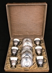 LENOX PORCELAIN TEA CUPS, M FRED HIRSCH STERLING SILVER