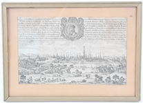 17TH/18TH CENTURY ENGRAVING OF VIENNA, AUSTRIA