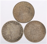 UNITED STATES MORGAN SILVER DOLLARS - LOT OF 3