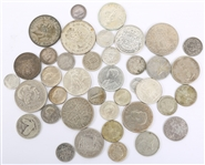 WORLD SILVER MIXED COINAGE LOT - 236.4 GRAMS