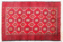 HAND KNOTTED PAKISTANI RUG WITH FRINGE