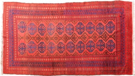 HAND WOVEN ORIENTAL RUG WITH FRINGE