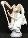 LLADRO PORCELAIN THE HARPIST FIGURINE 6312
