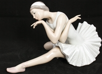 LLADRO PORCELAIN FIGURINE DEATH OF A SWAN 4855