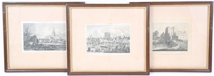 18TH C. ENGRAVINGS / ETCHINGS  OF NORWICH, ENGLAND