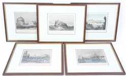FRAMED 19TH CENTURY STEEL ENGRAVINGS OF ITALIAN SCENES