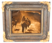EDWARD CURTIS FRAMED GOLDTONE CENTENNIAL PHOTOGRAPH