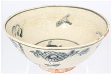 18TH CENTURY CHINESE BLUE AND WHITE TERRACOTTA BOWL