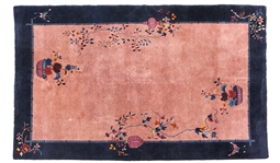MID-CENTURY CHINESE RUG WITH BUTTERFLIES AND FLOWERS