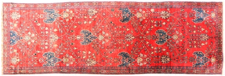 PERSIAN RUNNER RUG WITH FRINGE