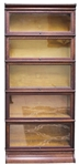 MACEY FIVE SECTION OAK BARRISTER BOOKCASE