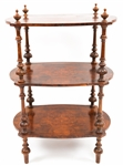 19TH CENTURY ENGLISH MAHOGANY 3 TIER TABLE