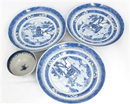 EARLY 20TH CENTURY CHINESE PORCELAIN PLATES AND BOWL