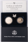 1991-1995 WWII 50TH ANNIVERSARY COIN MINT SET