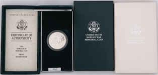 1991 US KOREAN WAR MEMORIAL SILVER PROOF COIN