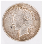 UNITED STATES SILVER PEACE DOLLAR - 1922P