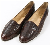 WOMENS COLE HAAN BROWN LEATHER LOAFERS