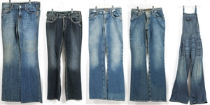 WOMENS JEANS/OVERALLS - LOT OF 5