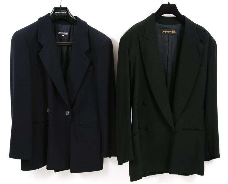 WOMENS GIORGIO ARMANI AND DKNY BLAZERS - LOT OF 2
