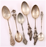 STERLING & COIN SILVER DEMITASSE SPOONS - LOT OF 6