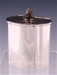 STERLING SILVER WILLIAM DEMATTEO BERRY TOP HINGED BOX