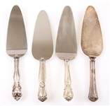 STERLING SILVER WEIGHTED PIE SERVERS - LOT OF 4