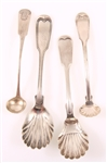 19TH CENTURY COIN SILVER SPOONS - LOT OF 4