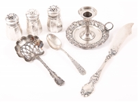 LATE 19TH C. AMERICAN STERLING SILVER TABLE ITEMS