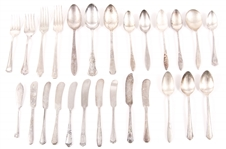 SILVER PLATED FLATWARE - SPOONS, FORKS, SPREADERS