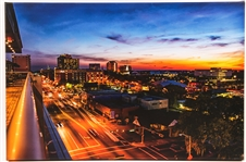 "K.M. CLARK ""TALLAHASSEE SUNSET"" PHOTOGRAPH PRINT ON CANVAS"