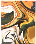 "SHARON KENNEDY ""GOURD ABSTRACT"" DIGITAL PRINT ON CANVAS"