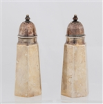 STERLING SILVER WALLACE SALT AND PEPPER SHAKERS